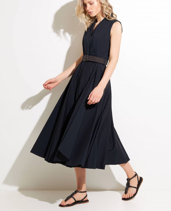 Cotton-rami wrap dress