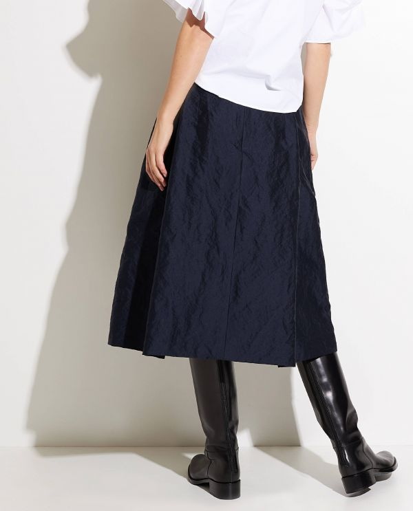 Midi skirt in cotton-silk