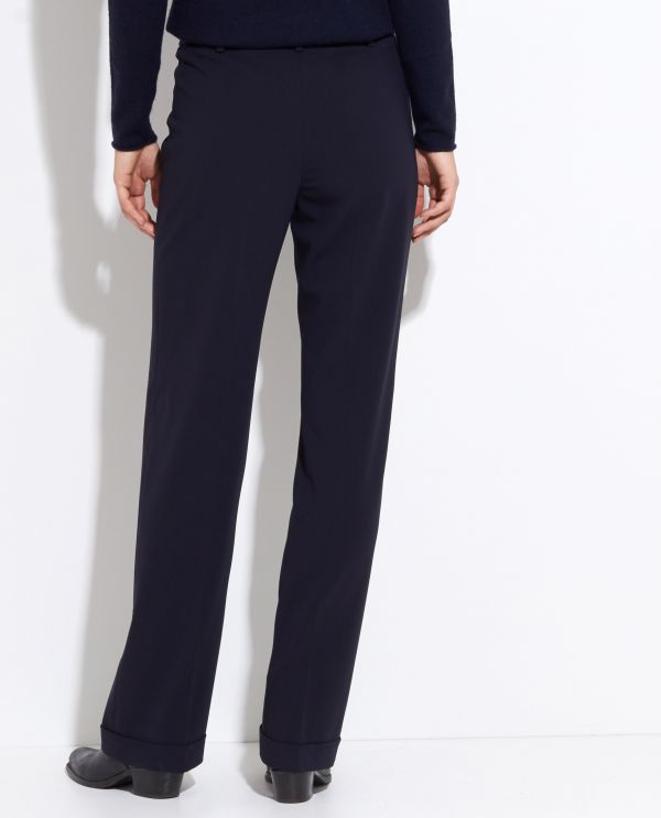 Wool wide leg trousers