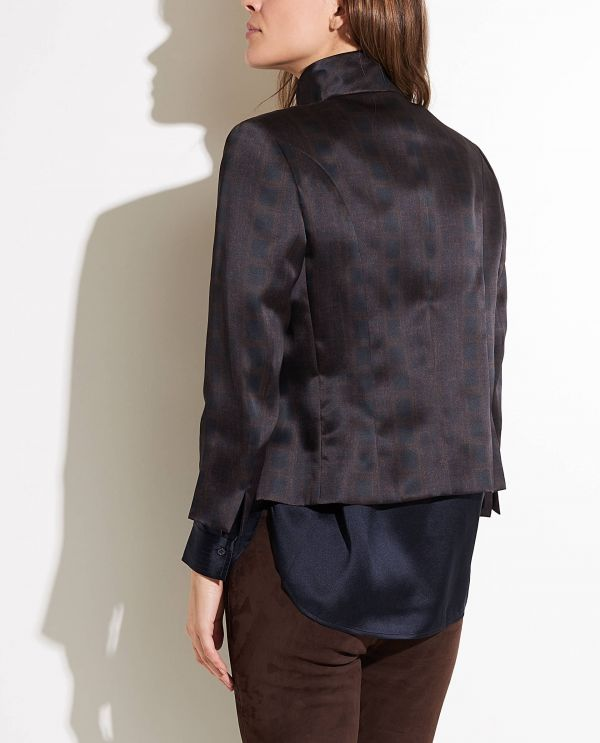 Short silk blazer
