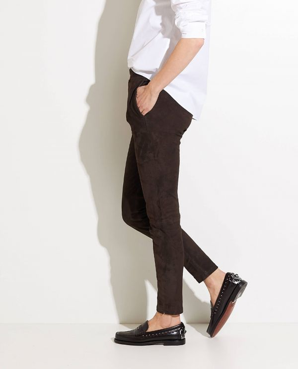 Suede Trousers