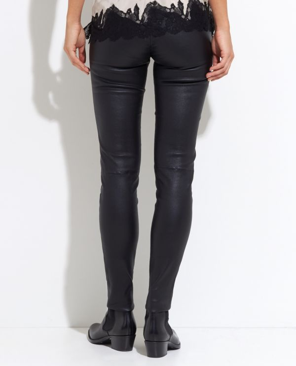 Leather Trousers with extra length