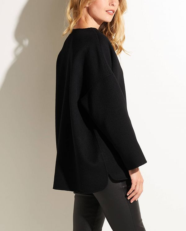 Double face cashmere sweater