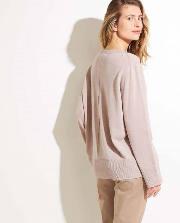 Ruime sweater in wol-cashmere