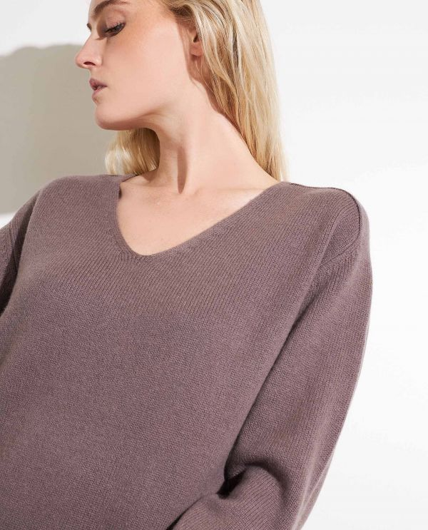 Lange sweater in wol-cashmere