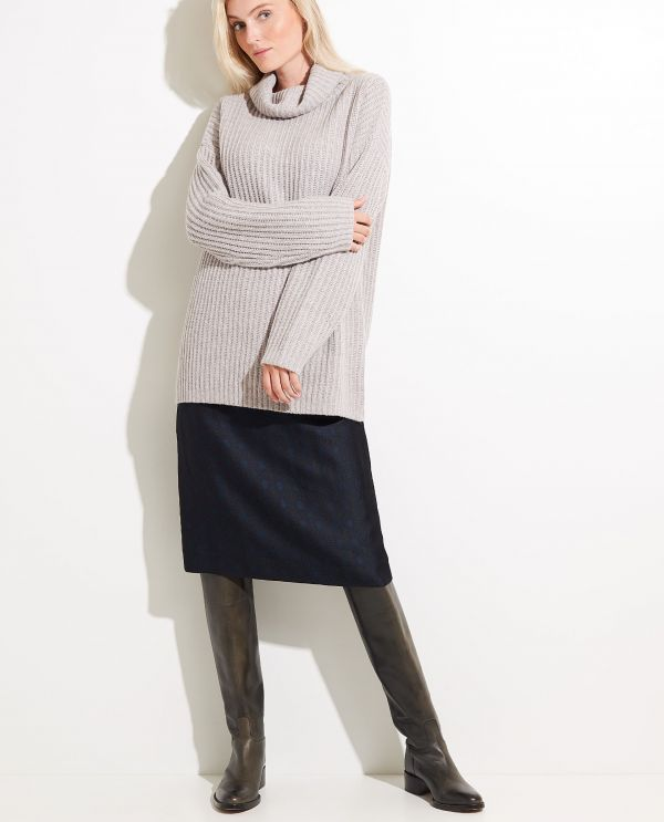 Wool Sweater with Turtle neck