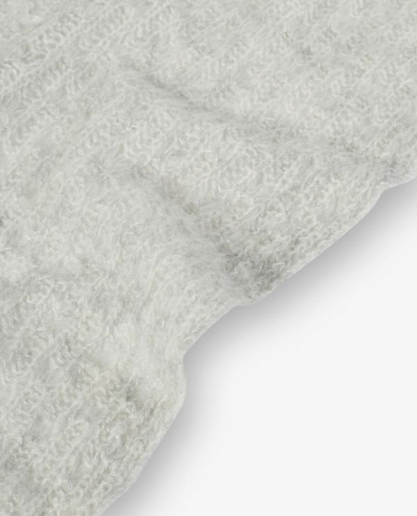 Ajour knitted scarf in cashmere-silk
