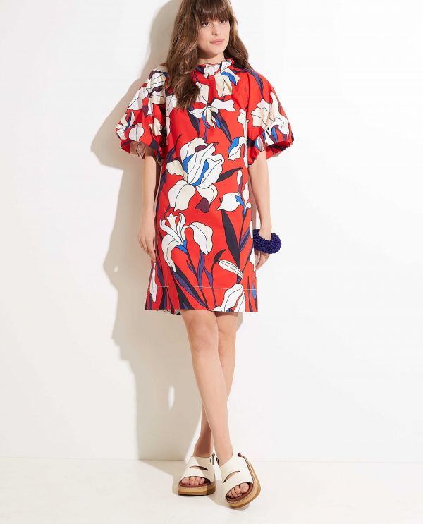 Cotton dress with print
