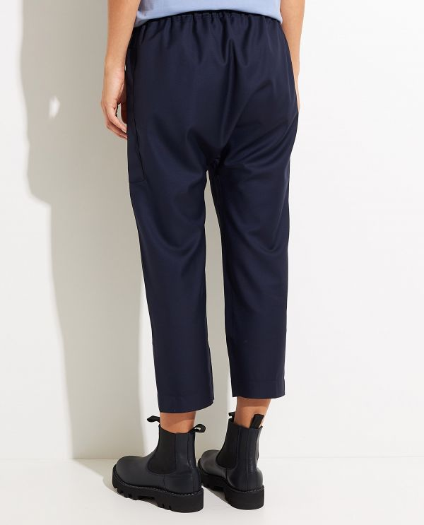 Baggy pants in wool