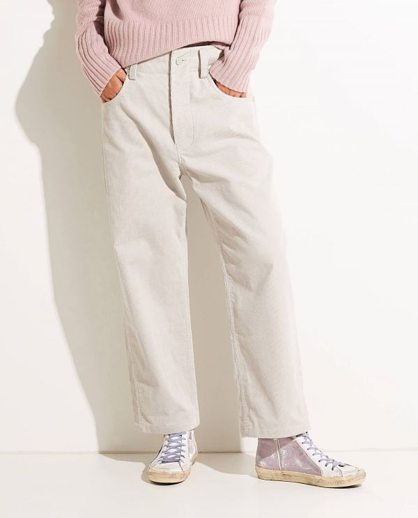 Baggy corduroy trousers