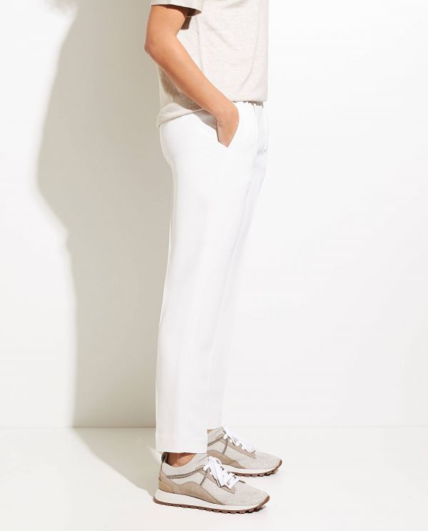 Tailored pants in silk blend