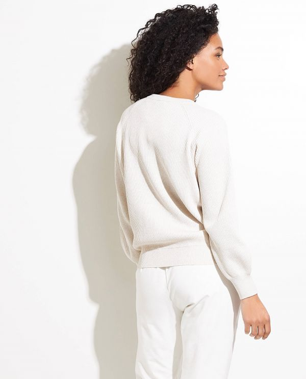 Cotton pullover with chest pocket