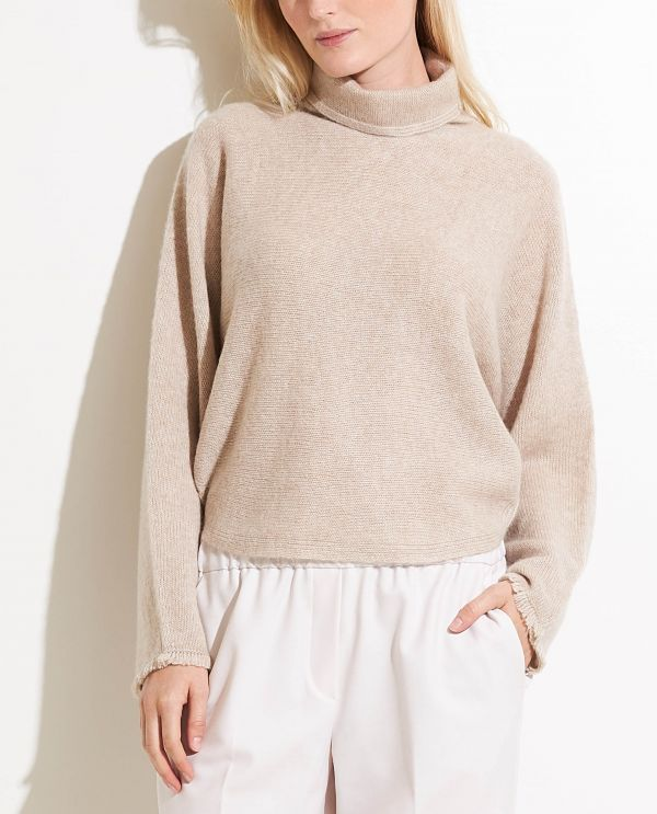 Wool-cashmere turtle neck sweater