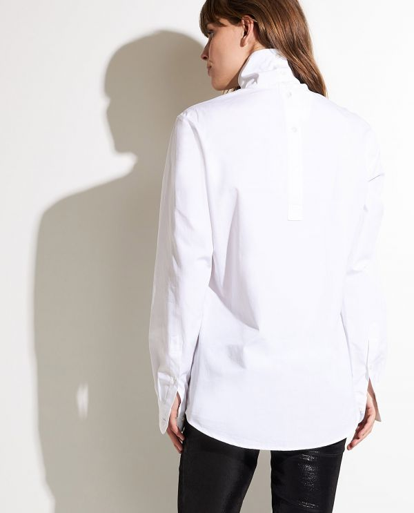 Cotton shirt with turtle neck