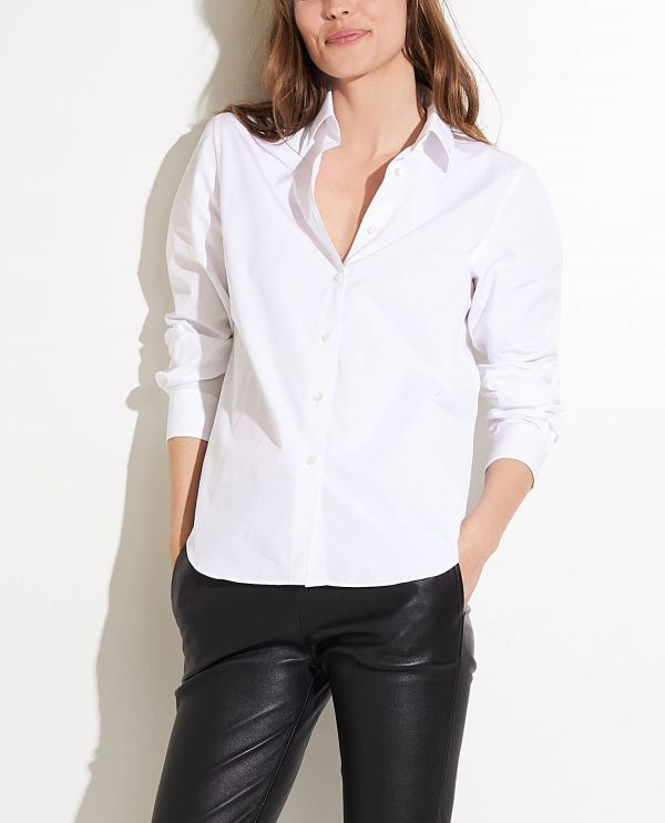 Cotton shirt with classic collar