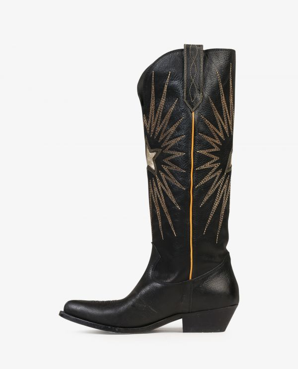 Wish star leather boots