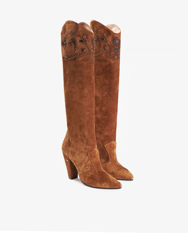 Michelle high suede boots