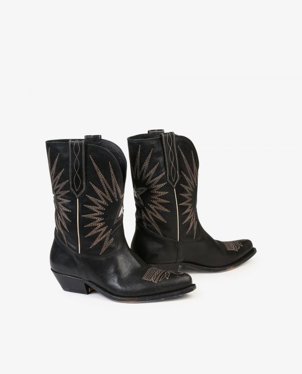 Wish Star Low leather boots