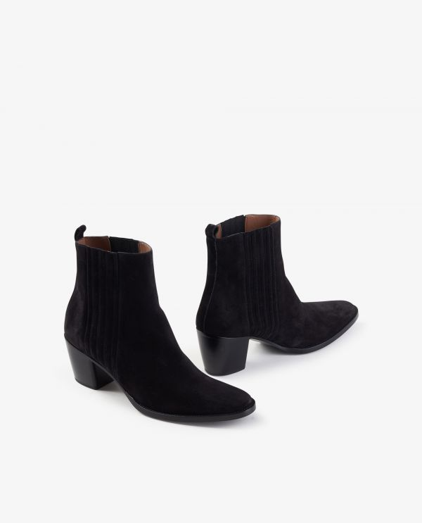 Short suede boots