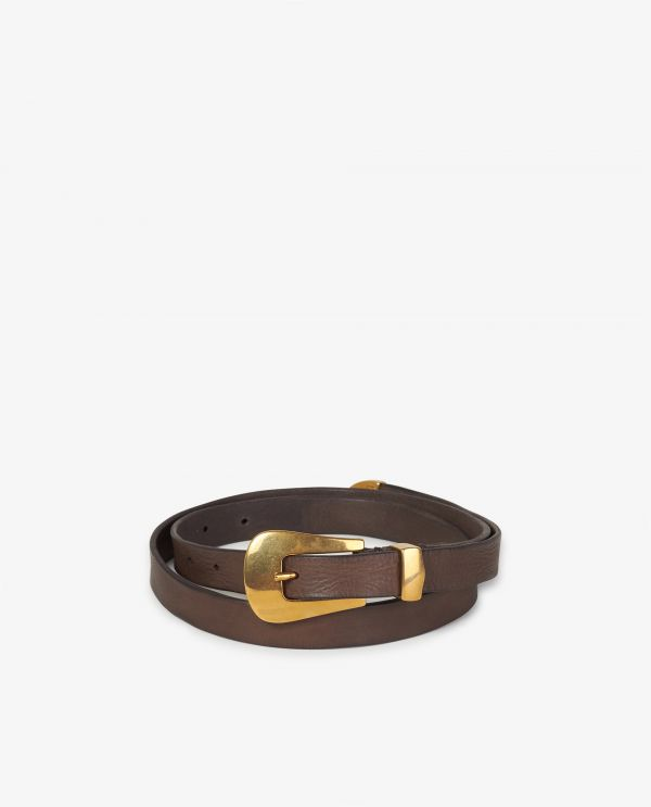 Small leather waist belt