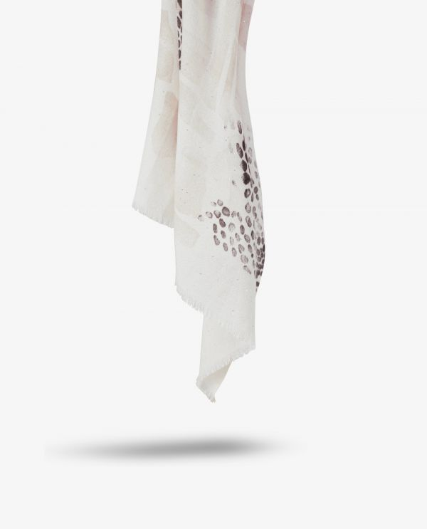 Cashmere-silk scarf with sequins