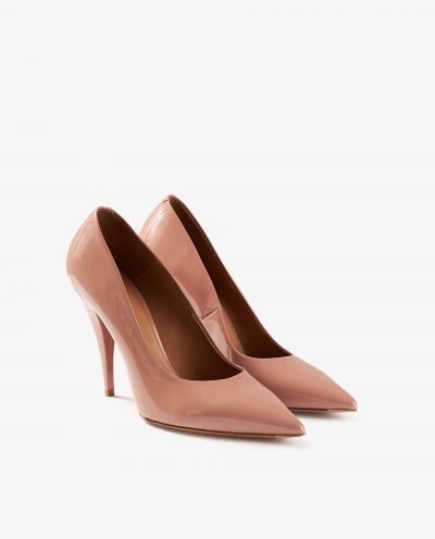 High patent leather pumps